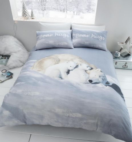 Catherine Lansfield Polar Bear White Bedding Set